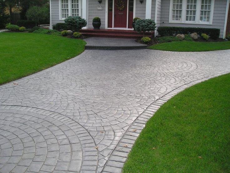 Stamped concrete driveway stamped concrete nj steps for Chape pour terrasse exterieure
