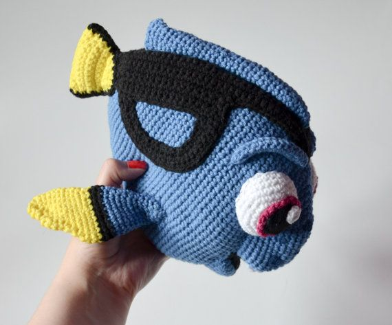 Häkelanleitung  blauen Fisch-Muster von Krawka Dory von Krawka