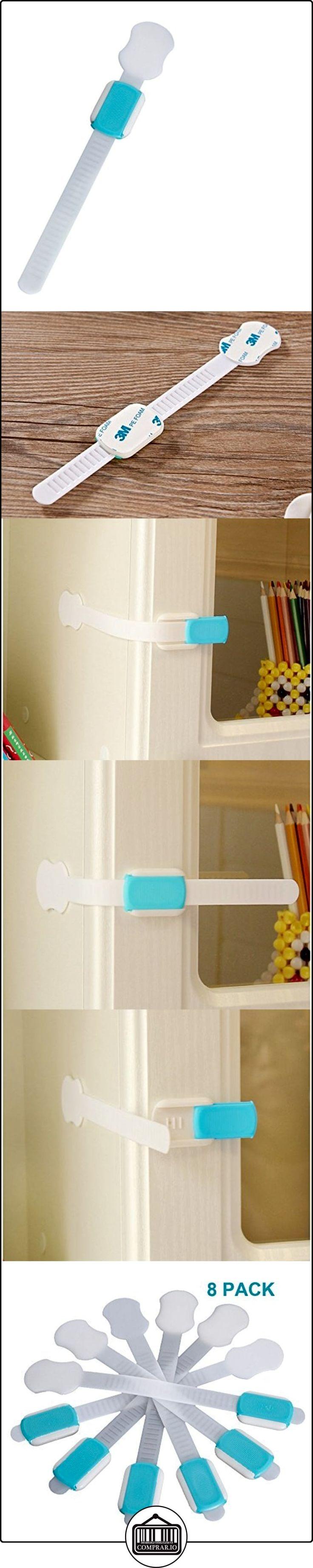 8pcs protección del bebé Bendy refrigerador gabinete puerta cerrojo cajón WC bebé bloqueo de seguridad  ✿ Seguridad para tu bebé - (Protege a tus hijos) ✿ ▬► Ver oferta: http://comprar.io/goto/B01MG7D67U