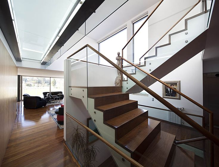Contemporary modern house stairs design by Atelier Nuno