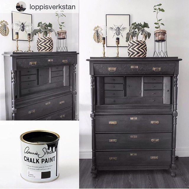 17 mejores ideas sobre mueble pintado de negro en for Muebles de mimbre pintados