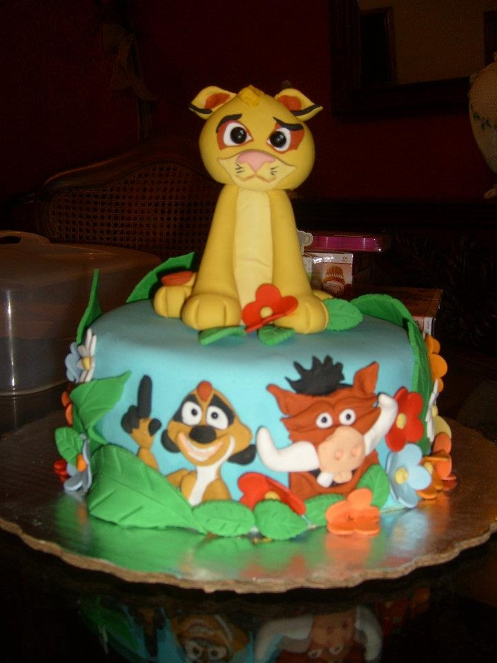 Lion King Fondant cake