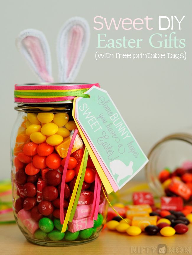25 unique easter gift ideas on pinterest egg boxes easter diy easter gift ideas with free printable tags from nifty mom negle Images