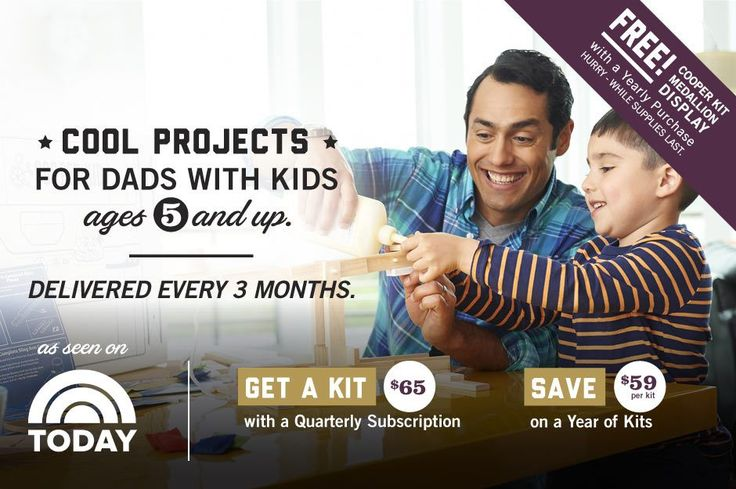 Cooper and Kid Subscription Box - meant for dads to do with their kids. $65/box