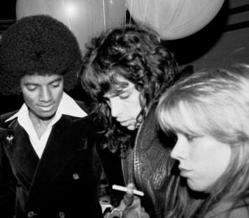 Michael Jackson, Steven Tyler & Cherie Currie of The Runaways at Studio 54