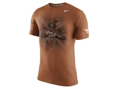 Nike College Gloves Tri-Blend (Texas) Men's T-Shirt