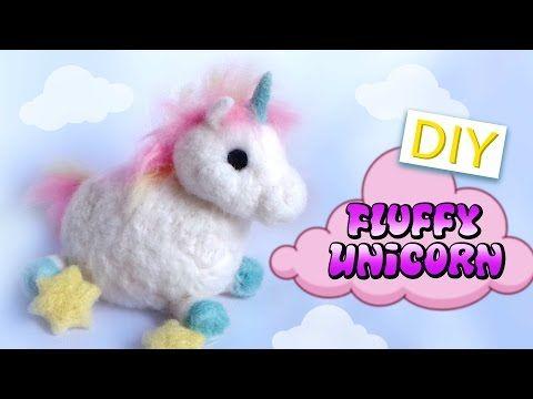 DIY: Fluffy UNICORN – Needle Felt Tutorial – Kawaii Unicorn Plush – YouTube