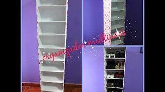 Tutorial mueble estantería hecha de cartón, manualidades baratas - YouTube