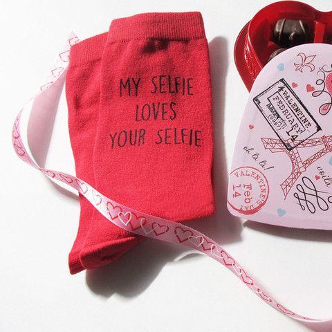 My Selfie Loves Your Selfie Custom Printed Valentines Day
