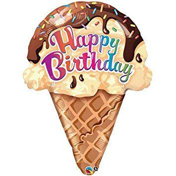 "PIONEER BALLOON COMPANY Birthday Ice Cream Cone Pack, 27"", Multicolor"