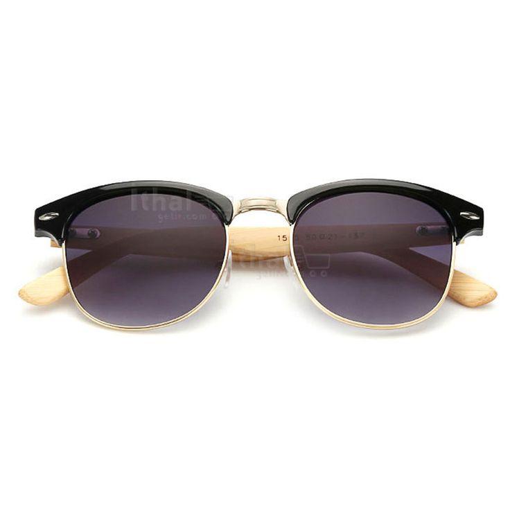 UV400 Korumalı, Gerçek Ahşap Güneş Gözlükleri - IGD090613428 - Vintage Güneş Gözlükleri, Ayna Camlı Güneş Gözlükleri, Bambu Güneş Gözlükleri