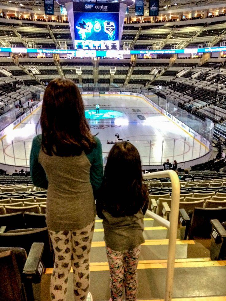 Our Arena. Kids at NHL game, San Jose October 2017