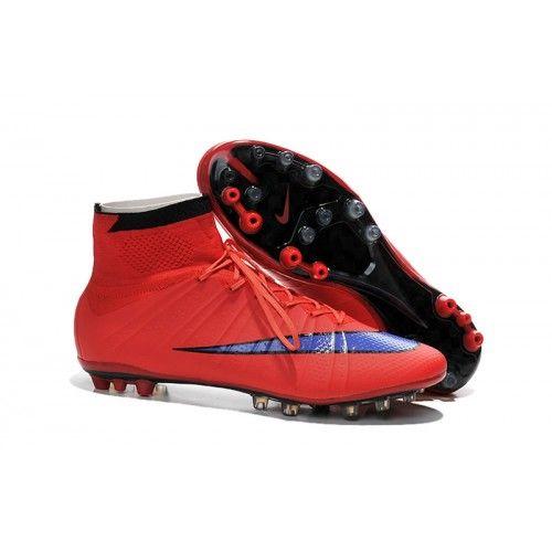 2016 Nike Mercurial Superfly AG Botas De Futbol Rojo