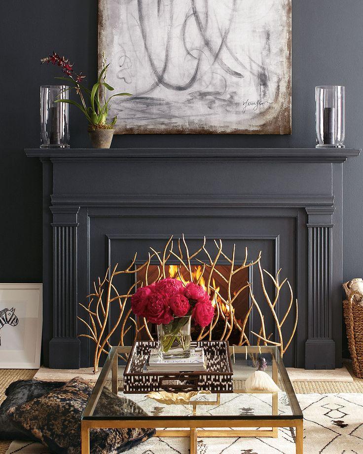 Mettre en avant un beau tableau au-dessus de la cheminée