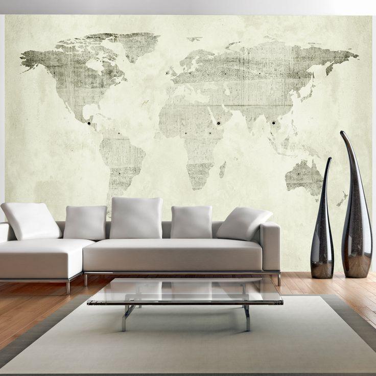 die besten 17 ideen zu weltkarte tapete auf pinterest famillienzimmer raum wei e w nde. Black Bedroom Furniture Sets. Home Design Ideas