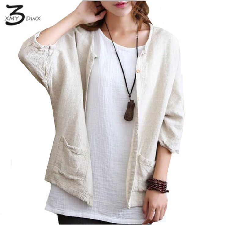XMY3DWX Solid Beige White Vintage Linen Women Blouse Shirt Plus size Batwing Original Casual Shirts Blouse Linen Blusas * AliExpress Affiliate's Pin. View the item in details by clicking the VISIT button