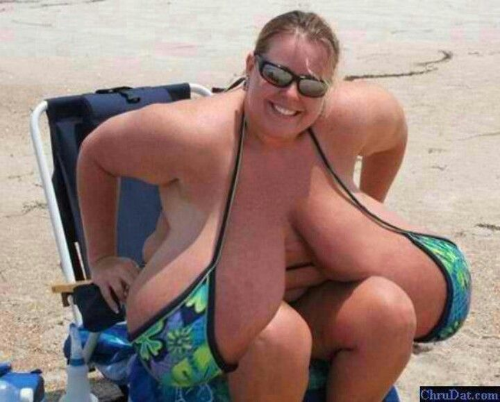 Umm time for that breast reduction surgery maybe???? There no more fun left  in those bags : /   WTF?...Seriously WTF?   Funny pictures, Crazy people,  Funny