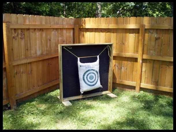 Backyard Archery Range Backstop :  stuff on Pinterest  Archery Targets, Diy Archery Target and Archery