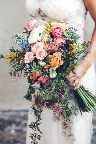 Obsessing over this colorful bouquet.