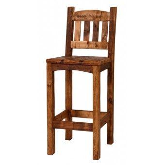 Jhe Log Furniture   Weathered Timber Bar Stool