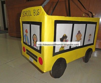 School bus prop for the rhyme-Wheels on the bus | Josie ...