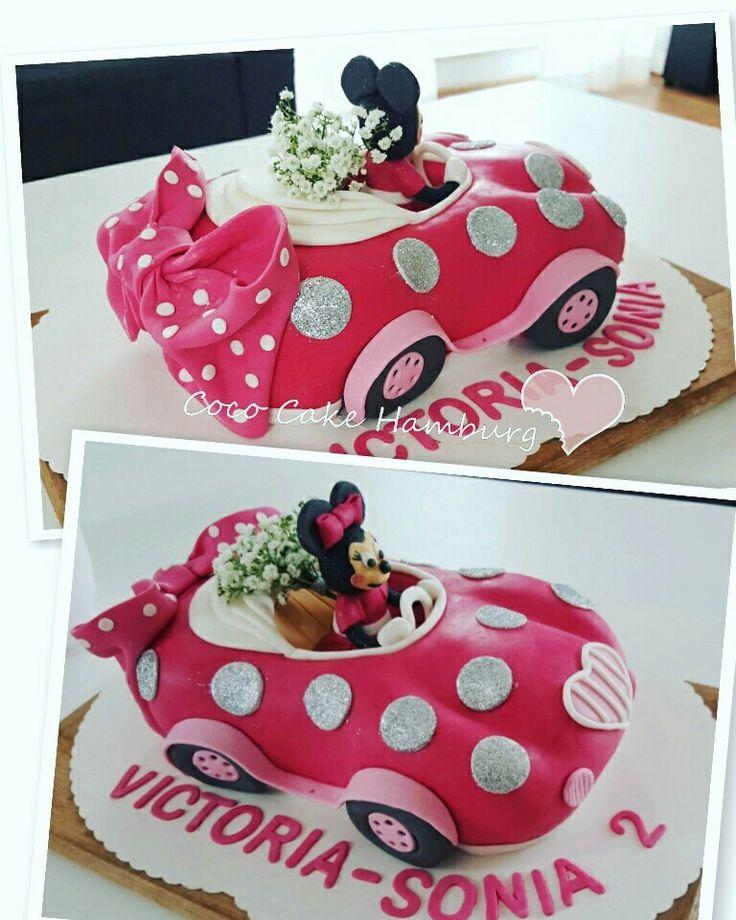 Minni Mouse Pink Car Cake Ekkor 2019 Torta