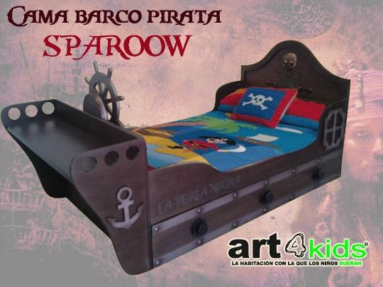 Cama infantil barco Pirata