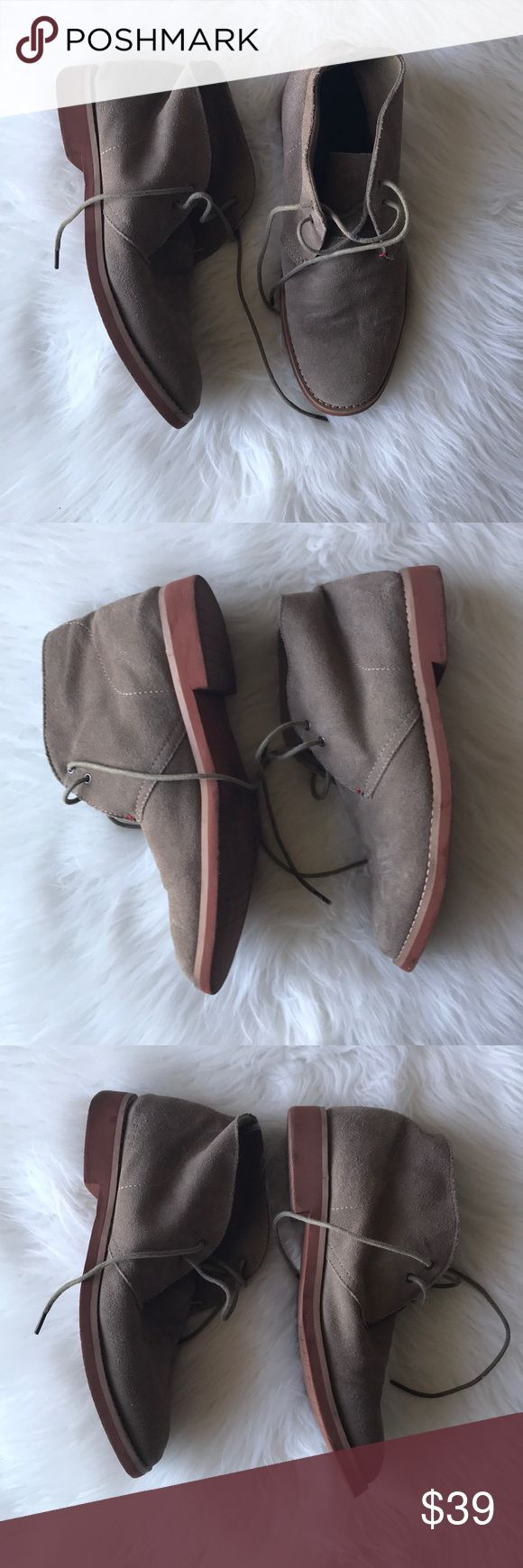 Men's Suede Chukka Boots Great pre-loved condition! Some minimal storage scuffs and wrinkles that will flatten out when worn. Open to reasonable offers. Tommy Hilfiger Shoes Chukka Boots