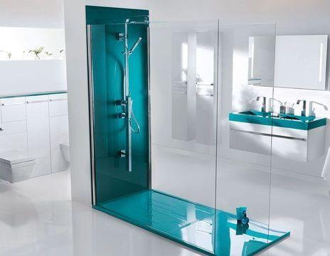 Best 25 salle de bain blanche ideas on pinterest salle for Carrelage salle de bain bleu turquoise