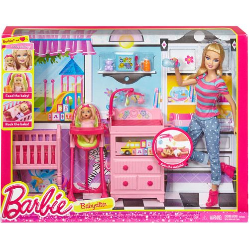 Walmart Toys Baby : Barbie i can be large infant caretaker play set plays
