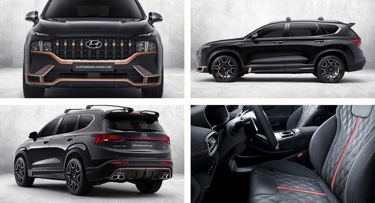 2021 Hyundai Santa Fe Gets N Performance Parts In South Korea Carscoops In 2021 Hyundai Santa Fe Hyundai Santa Fe Sport Hyundai