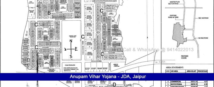 162 Sq Mtr Anupam Vihar Jda Scheme Plots for Sale Near SEZ Ajmer Road Jaipur