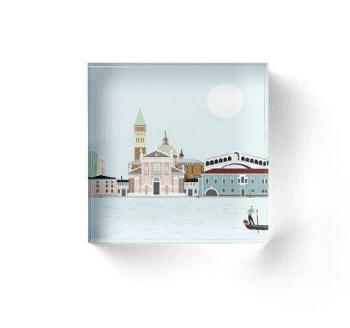 Venecia bloque acrílico bloque decorativo