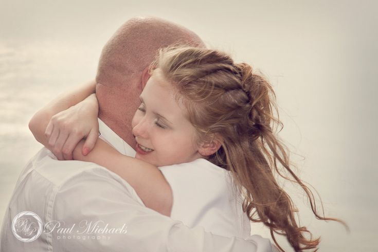 Hug for dad on his wedding day