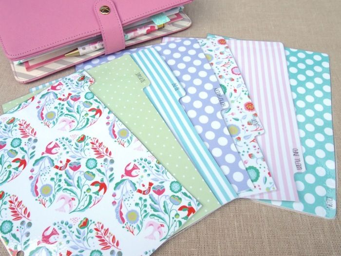 How to make a set of planner dividers for your Kikki K or Filofax
