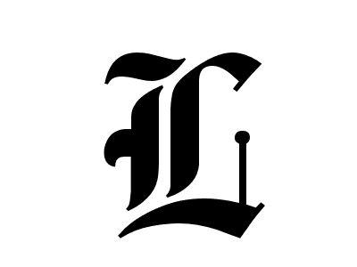 old english the letter L | lettrage | Pinterest