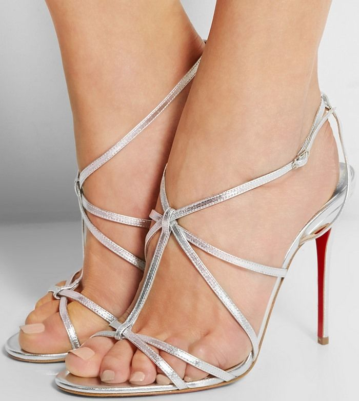 96ba4b76837 low cost christian louboutin youpiyou 100 metallic leather sandals 0c7e2  af5e8