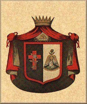 Brasão do Grau de Soberano Príncipe Rosa Cruz - Rito Escocês Antigo e Aceito