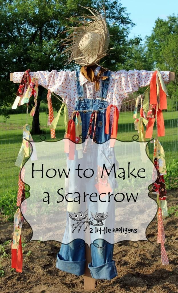 "DIY Halloween Crafts: DIY How to Make a Scarecrow ""I might like one of these in my yard, just for fun""...gp"