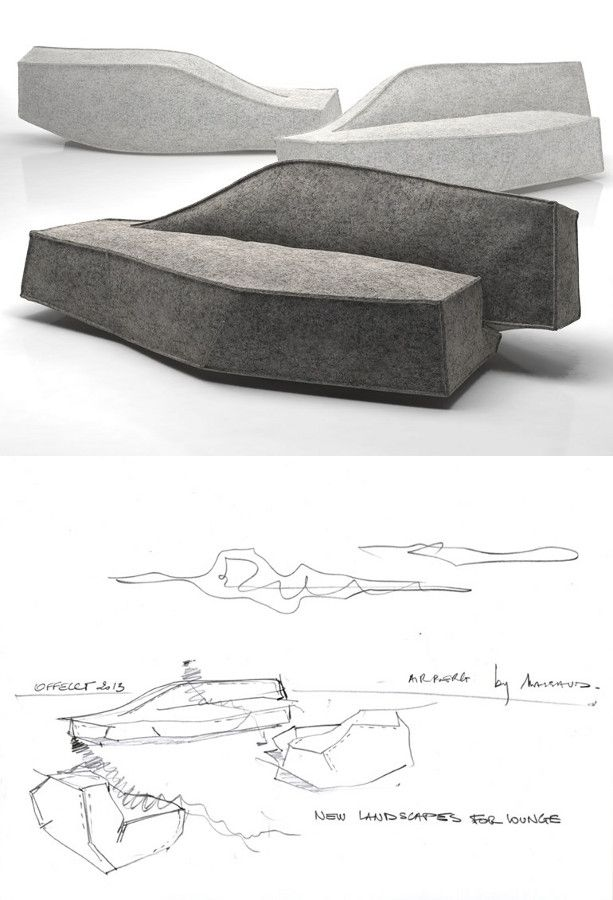 Upholstered #sofa AIRBERG by Offecct | #design Jean-Marie Massaud
