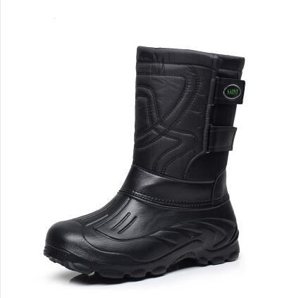 Outdoor New Men-In-Tube Snow Boots Waterproof Non-Slip Comfortable Cotton Tooling Boots Warm Shoes Fishing Boots Size 41-46