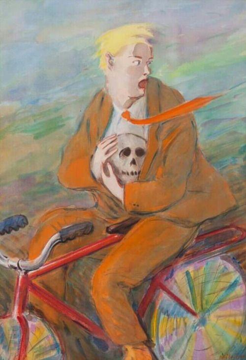 Escaping Hamlet - Olli Lyytikäinen , 1976 Finnish, 1949-1987 Watercolour, 75 x 52 cm