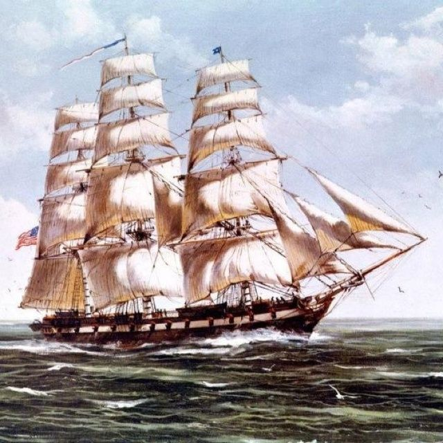 On 22 July 1802, during the First Barbary War, the frigate Constellation, defeated nine Corsair gunboats off Tripoli, sinking two. Description from pinterest.com. I searched for this on bing.com/images