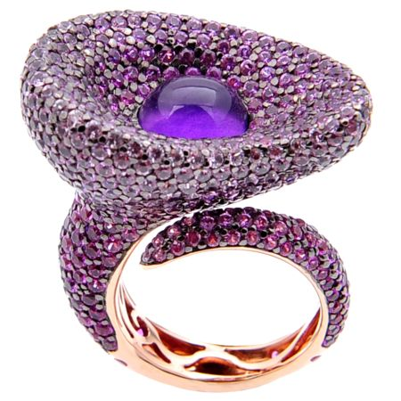 Sifani ring In 18ct white gold with amethyst