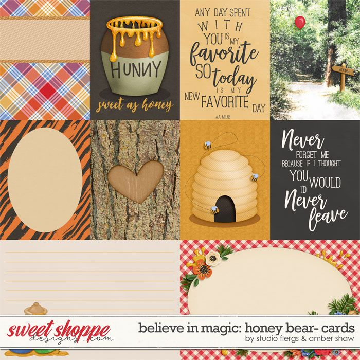 Believe in Magic: Honey Bear Cards by Amber Shaw & Studio Flergs