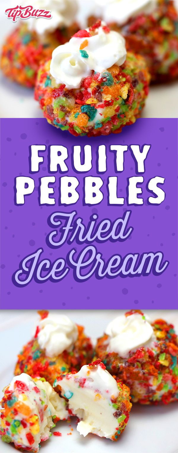 Fruity Pebbles Fried Ice Cream, one of our most popular recipes! With just 3 simple ingredients, you can have some of the most delicious fried ice cream you've ever tasted.