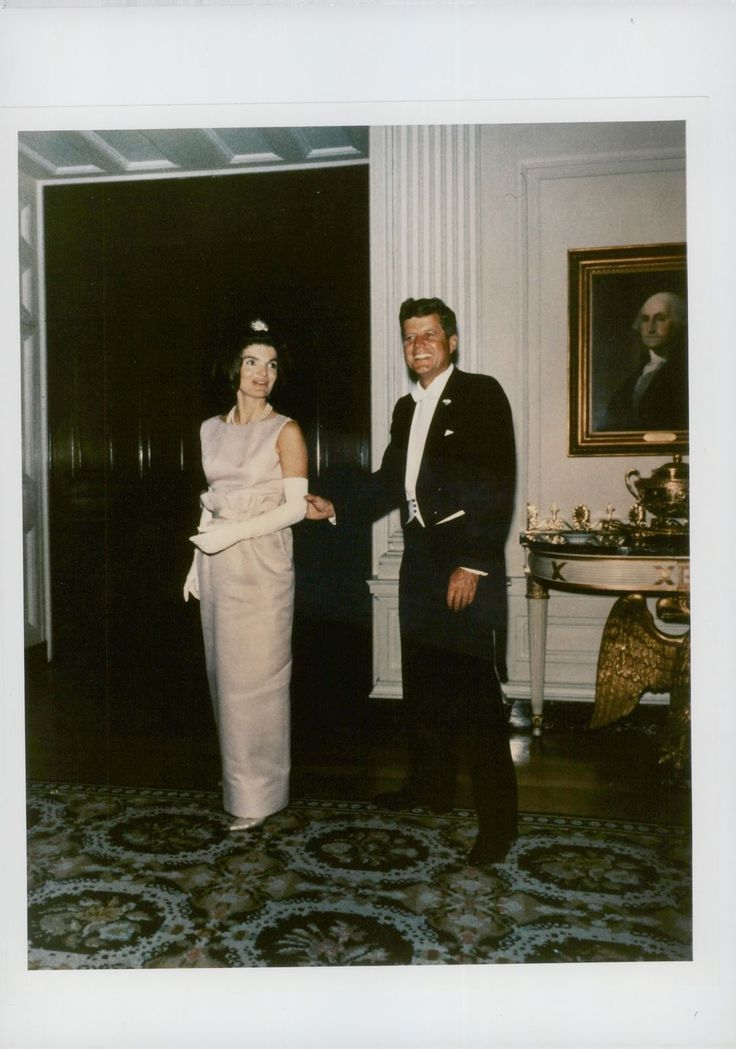 Vintage photo of Jacqueline Kennedy Onassis and President John F. Kennedy at din | Collectibles, Photographic Images, Contemporary (1940-Now) | eBay!