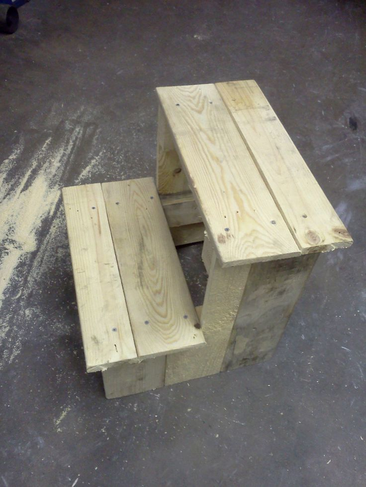 Step stool from a pallet how-to