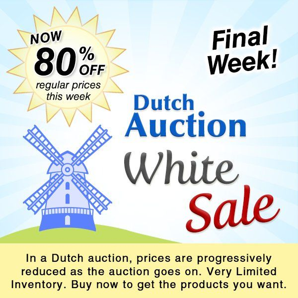 You were brave to wait! Time to cash in that patience with #jewelrymaking supplies at a whopping 80% OFF in the Dutch Auction Sale.