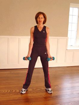 Today's Exercise: Alternating Dumbbell Biceps Curls...shaping arms